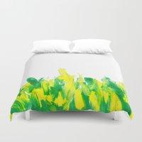 grass Duvet Covers featuring Grass by Noreen Loke