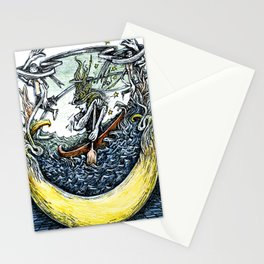 Crescent Canoeist Stationery Cards