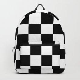Black White Checker Backpack