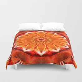 Mandala bitter orange Duvet Cover