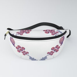 Thanksgiving harvest heart shaped Wreath  Fanny Pack