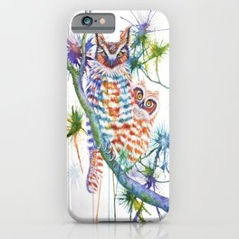 Momma and Baby Owls iPhone Case