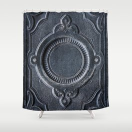 Pretty ornamented book cover Shower Curtain