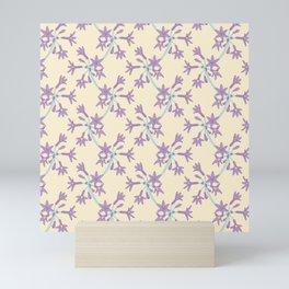 Lilac Wild Flower Pattern Mini Art Print