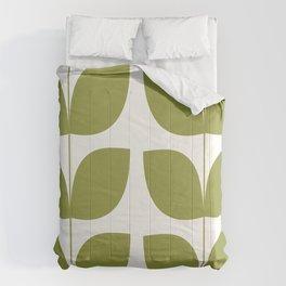 Mid Century Modern Leaves Green #society6 #buyart Comforters