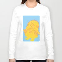 minion Long Sleeve T-shirts featuring minion by cos-tam