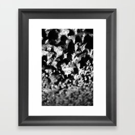Lava tube cave Framed Art Print