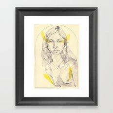 yellow wip Framed Art Print