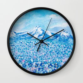 Mountain Beauty Wall Clock
