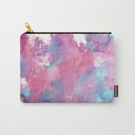 Pink, Purple and Blue Abstract Watercolour Carry-All Pouch