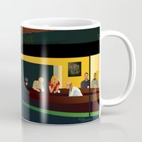 philosophy Mugs featuring NIU Philosophy Nighthawks by Renee Bolinger