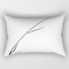 Black Writer's Quill Rectangular Pillow