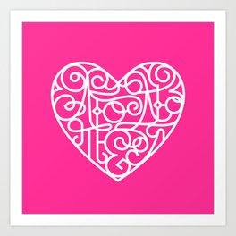 Я тебя люблю. Pink Art Print