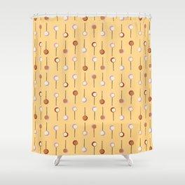 Cake Pop Parade - Yellow Shower Curtain