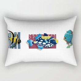 Fish Trio Rectangular Pillow