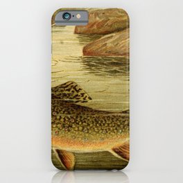 Goode - American Fishes (1888) - River Fishing iPhone Case
