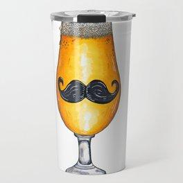 """Insert Mustache Pun"" Travel Mug"