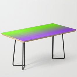 Neon Purple and Neon Green Ombré  Shade Color Fade Coffee Table