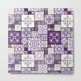 Moroccan Tile Pattern III Metal Print