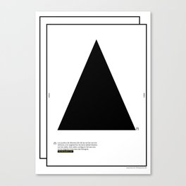 Geometric  - Dreieck . (Spanish) Canvas Print