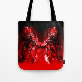 wolves hate monday splatter watercolor red Tote Bag