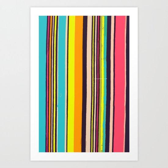 Candy Stripes! Art Print