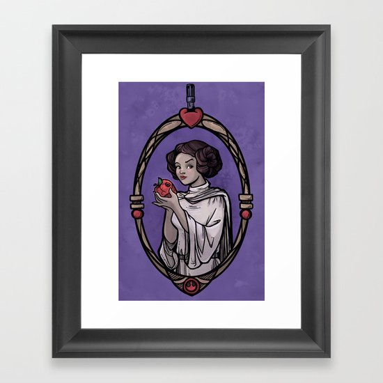 Snow Organa and the Poisoned Death Star Framed Art Print