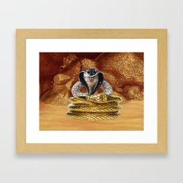 Golden Cobra Framed Art Print