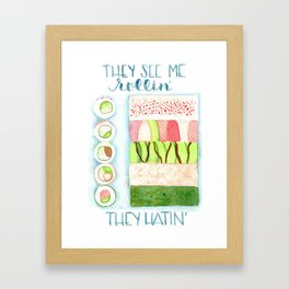 They see me rollin Framed Art Print