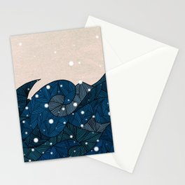 - winter waves in the snow - Stationery Cards