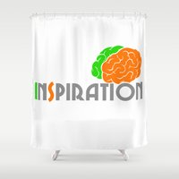 inspiration Shower Curtains featuring Inspiration by Todd Trotter
