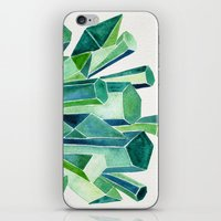 emerald iPhone & iPod Skins featuring Emerald Watercolor by Cat Coquillette