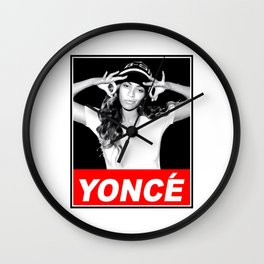 beyonce.yonce obey style Wall Clock