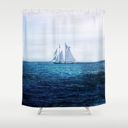 Sailing Ship on the Sea Shower Curtain