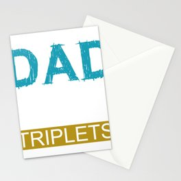 Triplets Baby Children Gift Birth Multiples Stationery Cards