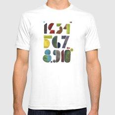 1 2 3 4 5 6 7 8 9 10 decimal numbers - by Genu WORDISIAC™ TYPOGY™ White Mens Fitted Tee MEDIUM