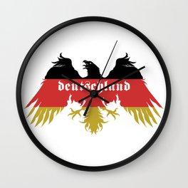 Deutschland flag colo Wall Clock