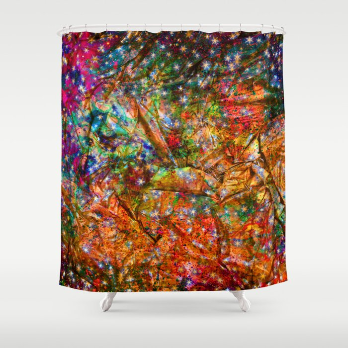gift wrapping paper Shower Curtain