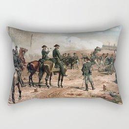 General Sherman Observing The Siege of Atlanta Rectangular Pillow