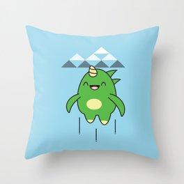 Kawaii Dragon Throw Pillow