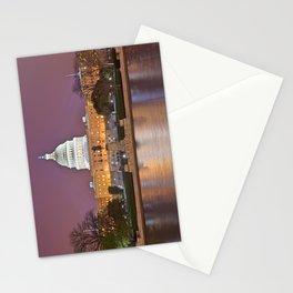 Glowing Washington DC Capitol Stationery Cards