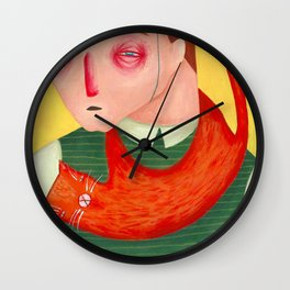 I don't want a cat for my birthday Wall Clock
