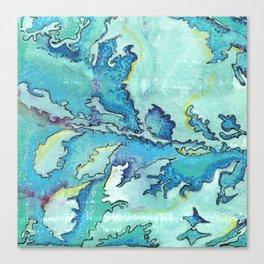 Striation, Brazilian Tide, 1 Canvas Print