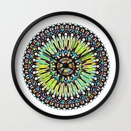 Multi-colored Mandala Wall Clock