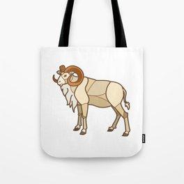 Geometric Dall Sheep Tote Bag