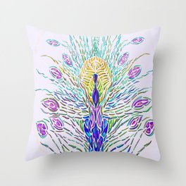 Peacock2 Throw Pillow