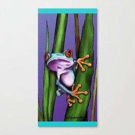 Peeking Frog Canvas Print