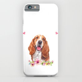 Basset Hound Gift iPhone Case