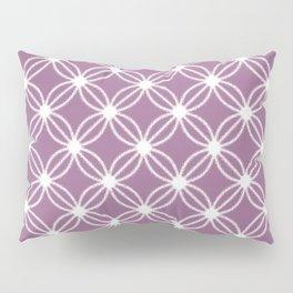 Abstract Circle Dots Purple Pillow Sham