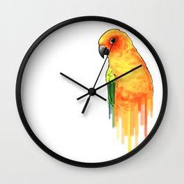 Sun Parakeet Wall Clock